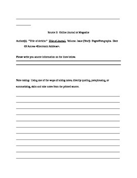 Organizing Research Bibliographies and Note-Taking