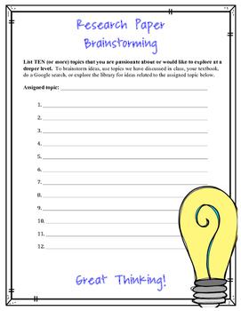 Research Brainstorming