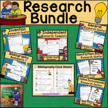 Research Bundle  * Research Centers and Bibliography Cloze Templates