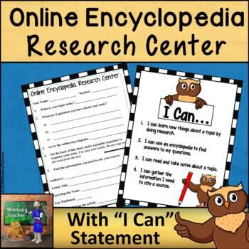 Research Center Reproducible *Online Encyclopedia Version*