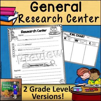 Research Center Reproducible * Any Topic * Print and Go