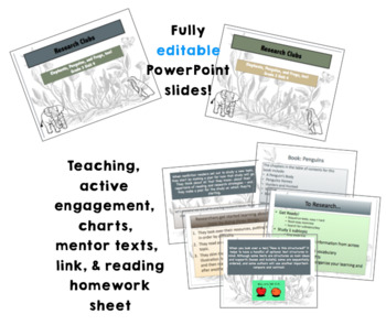 Lucy Calkins Research Clubs (Grade 3) ***Entire Unit***