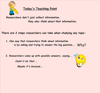 Research Clubs Lucy Calkins Unit 4 Lesson 6 Researchers As