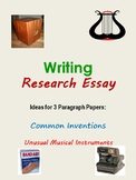Research - Common Invention OR Unusual Musical Instrument Essay