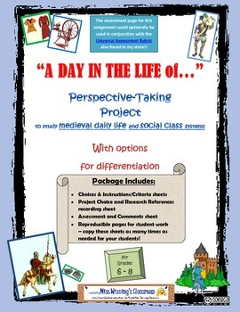 Research & Creative Writing Project: Medieval Daily Life & Social Class Systems