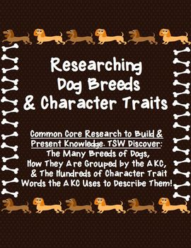 Research & Present: Dog Breed Groups, Character Trait Word