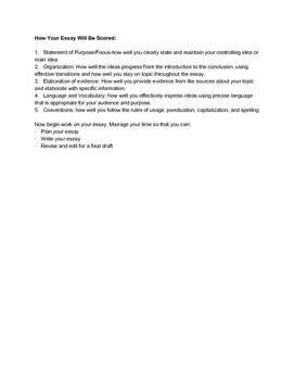 Informational Essay Performance Task-Epidemics