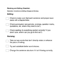 Research Essay - Revision and Editing Checklist