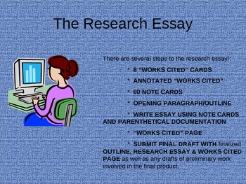 Research Essay Writing - PowerPoint