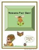 Research Fact Sheet