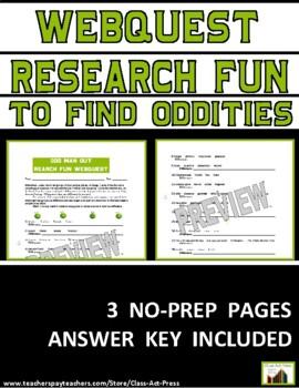 Research Fun: Odd Man Out: Webquest