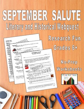 Research Fun: Facts About Every Day in September (8 P., Ans. Key, $5)