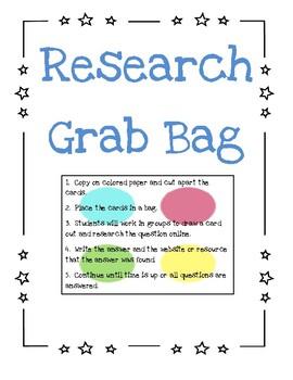 Research Grab Bag Task Cards