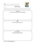 Research Graphic Organizer - Adapted Version Included