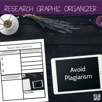 Research Graphic Organizer: Better than a Notecard