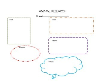 Research Graphic Organizer for Animals