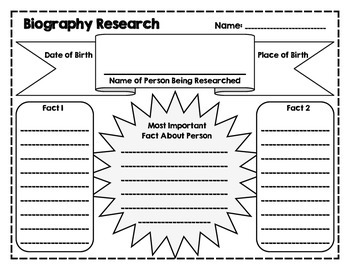 elementary research paper organizer