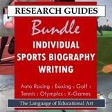 Research Guide: Individual Sports Biography Writing Bundle