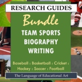Research Guide: Team Sports Biography Writing Bundle