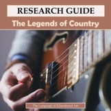 Research Guide: The Legends of Country Music