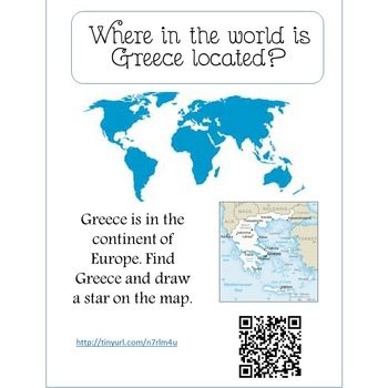 Research Guide with QR Codes for Ancient Greece