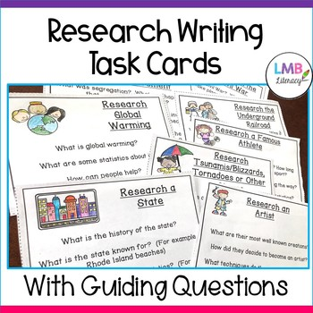 Research Topic Task Cards