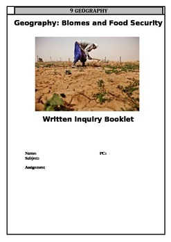 Research Inquiry Note Taking Booklet