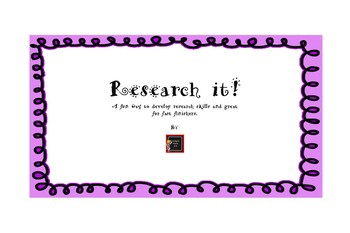Research It! Fast Finishers and GT activity