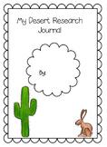 Research Journal- Desert Biome