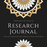 Research Journal for Common Core Research Essay-Modifiable