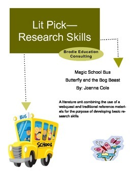 Research Lit Picks: Magic School Bus Butterfly and the Bog Beast