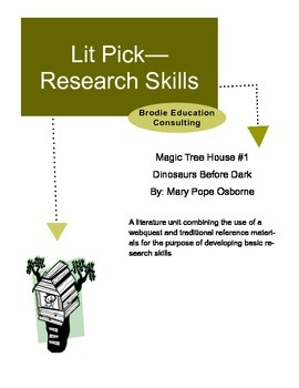 Research Lit Picks: Magic Tree House Dinosaurs Before Dark