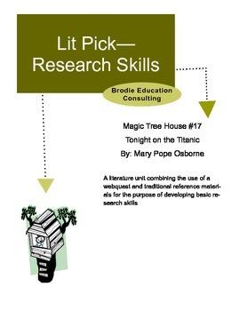 Research Lit Picks: Magic Tree House Tonight on the Titanic