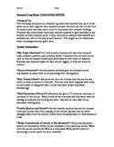 Research Log Sheet