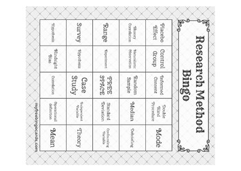 Research Method Bingo