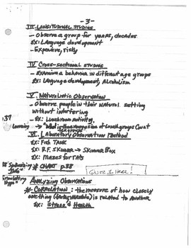 Research Methods Lecture Notes