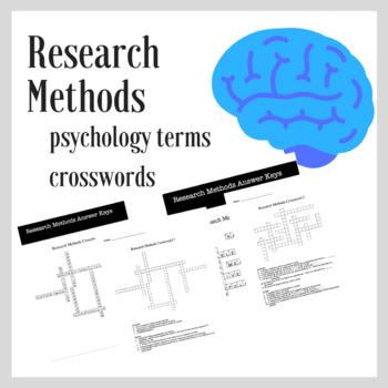Research Methods Psychology   Crossword Practice