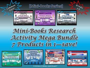 Research Mini-Books Ultimate Bundle Common Core