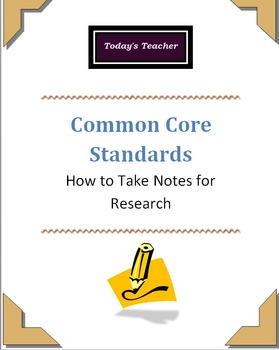 Research: Note Taking
