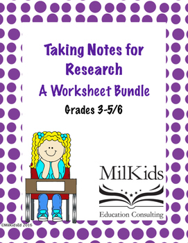 Research Note Taking Bundle
