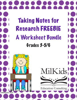 Research Note Taking Bundle FREEBIE!
