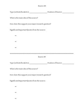Research Note-Taking Template