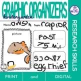 Kindergarten Research Graphic Organizers