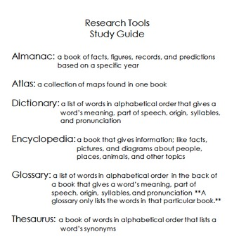 Research Notes - Language Arts