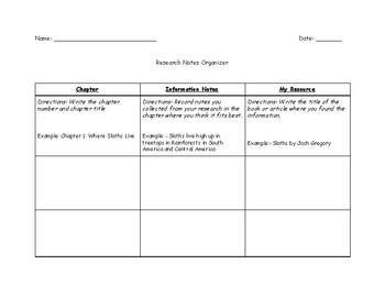Research Notes Organizer