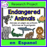 Distance Learning ENDANGERED ANIMAL RESEARCH REPORT en Espanol Research Project