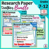 Research Paper Bundle: Note Cards, Outlines, MLA 9th Editi
