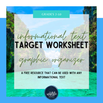 Informational Text TARGET Worksheet