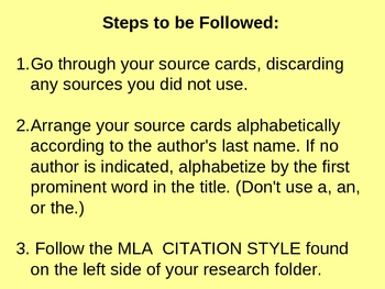 Research Paper: Citing Sources