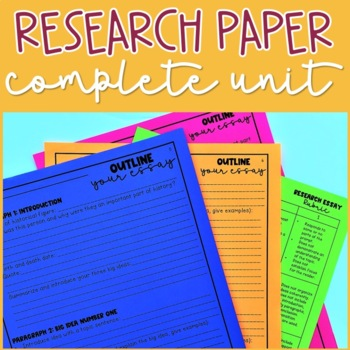 Research Paper EDITABLE (complete essay unit with lessons, no prep)